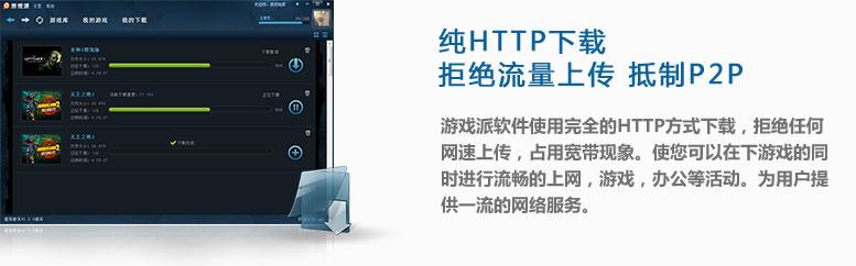 纯HTTP下载,拒绝流量上传,抵制P2P